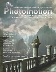 Pacific Digital Photography Club's Photomotion Show @ Inlet Theatre | Port Moody | British Columbia | Canada